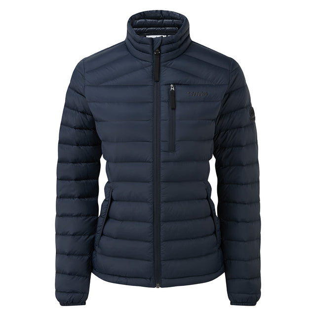 Base Womens Funnel Down Jacket - Dark Indigo image 6