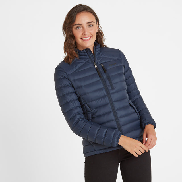 Base Womens Funnel Down Jacket - Dark Indigo image 1