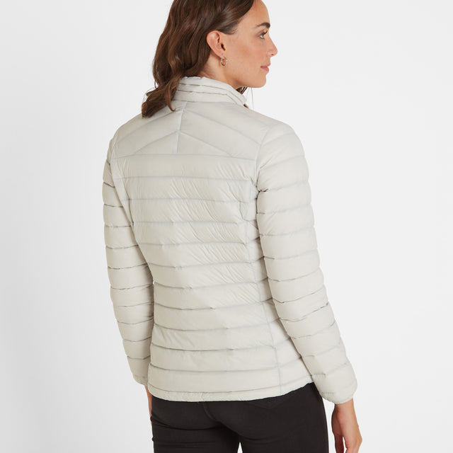 Base Womens Funnel Down Jacket - Ice Grey image 3