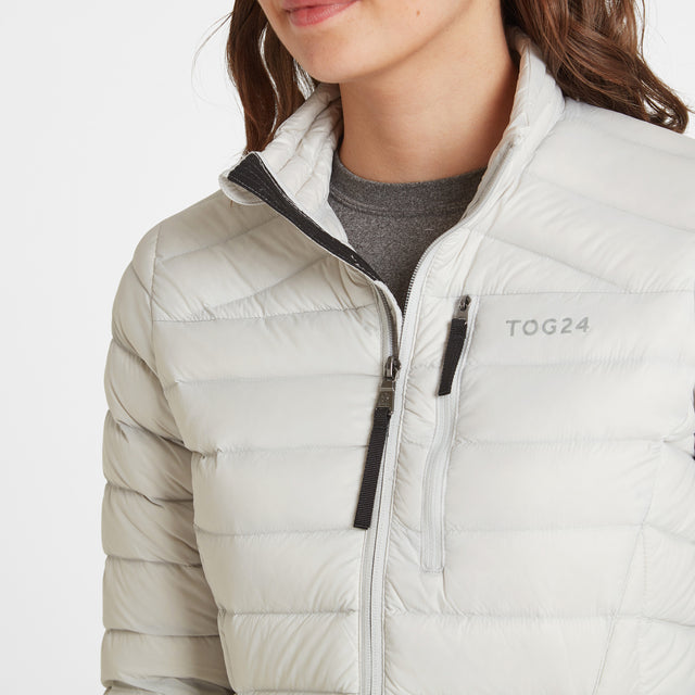 Base Womens Funnel Down Jacket - Ice Grey image 5