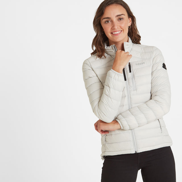 Base Womens Funnel Down Jacket - Ice Grey image 1