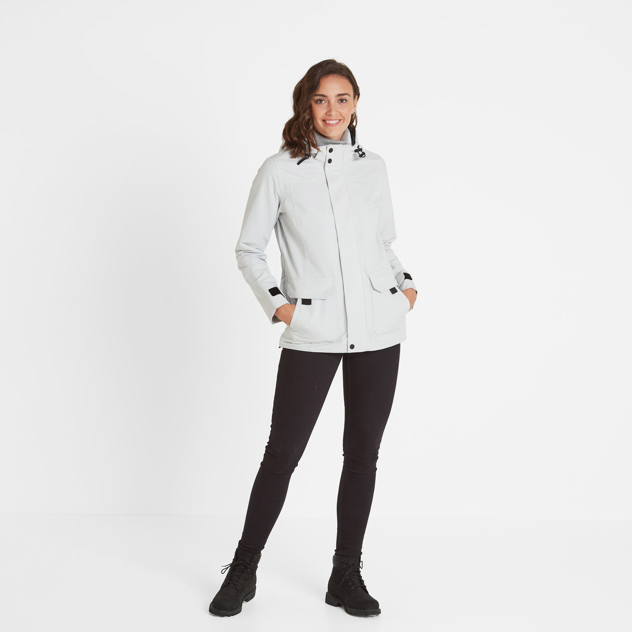 Beamsley Womens Waterproof Jacket - Ice Grey image 4
