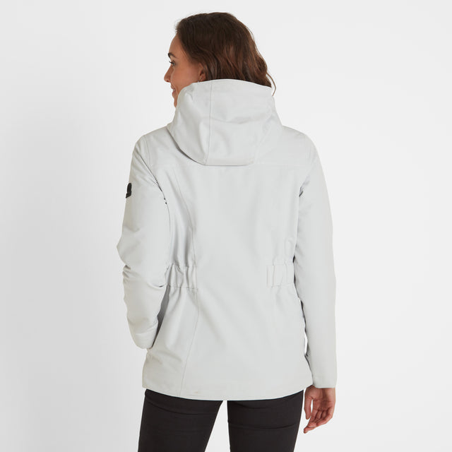 Beamsley Womens Waterproof Jacket - Ice Grey image 3