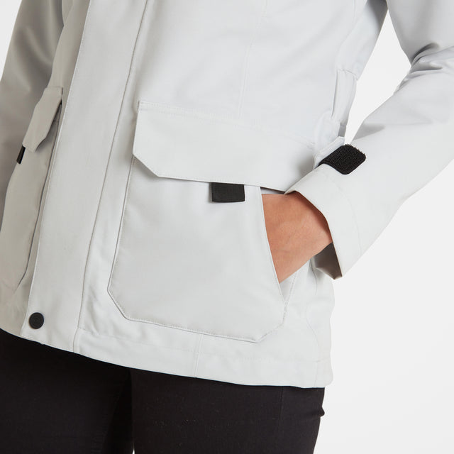 Beamsley Womens Waterproof Jacket - Ice Grey image 5