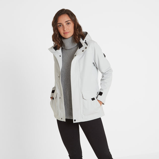 Beamsley Womens Waterproof Jacket - Ice Grey image 1