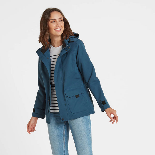 Beamsley Womens Waterproof Jacket - Atlantic Blue image 2
