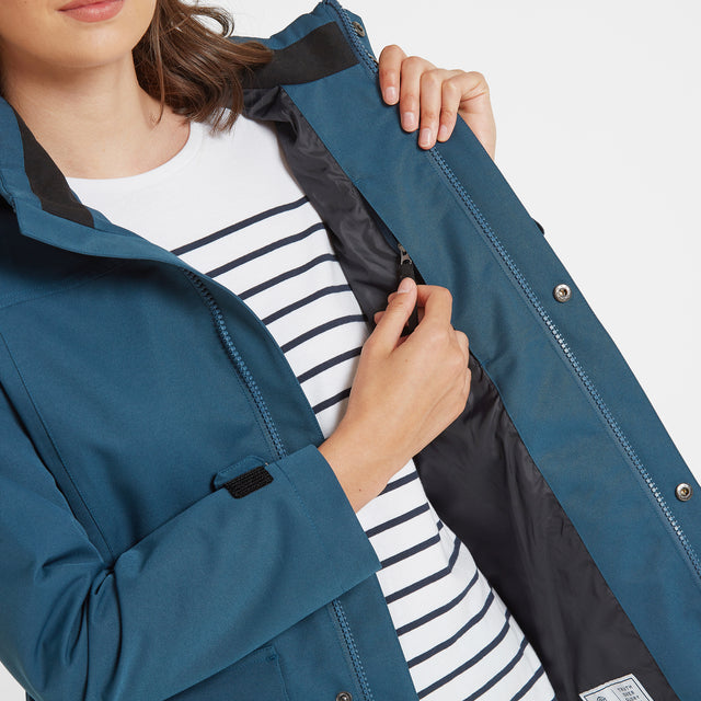 Beamsley Womens Waterproof Jacket - Atlantic Blue image 5