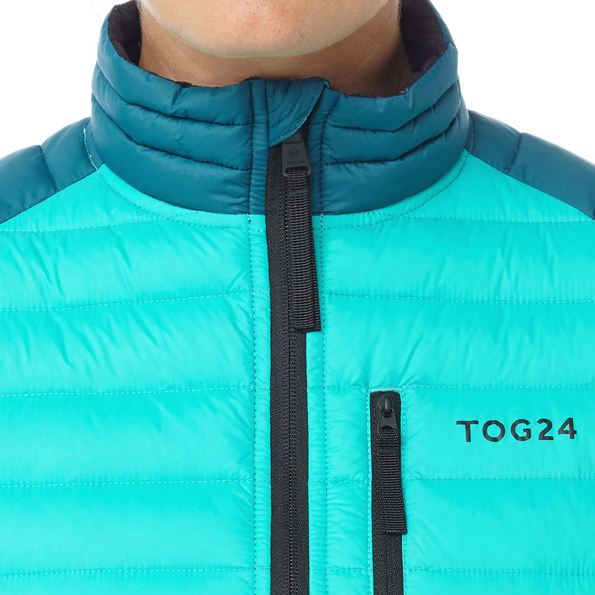 Beck Womens Down Jacket - Ceramic/Lagoon image 4