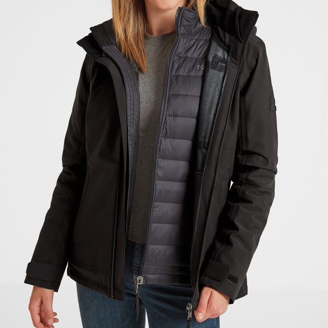 Beverley Womens Waterproof 3-in-1 Jacket - Black image 6