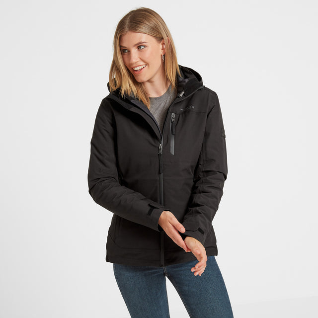 Beverley Womens Waterproof 3-in-1 Jacket - Black image 1