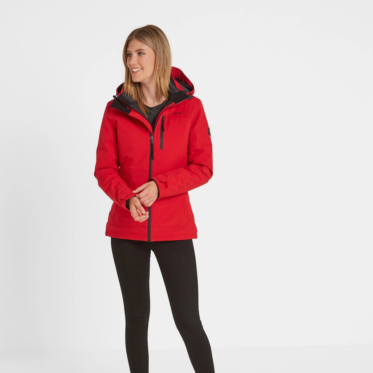 Beverley Womens Waterproof 3-In-1 Jacket - Rouge Red image 4