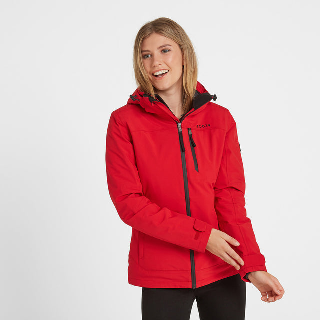 Beverley Womens Waterproof 3-In-1 Jacket - Rouge Red image 1