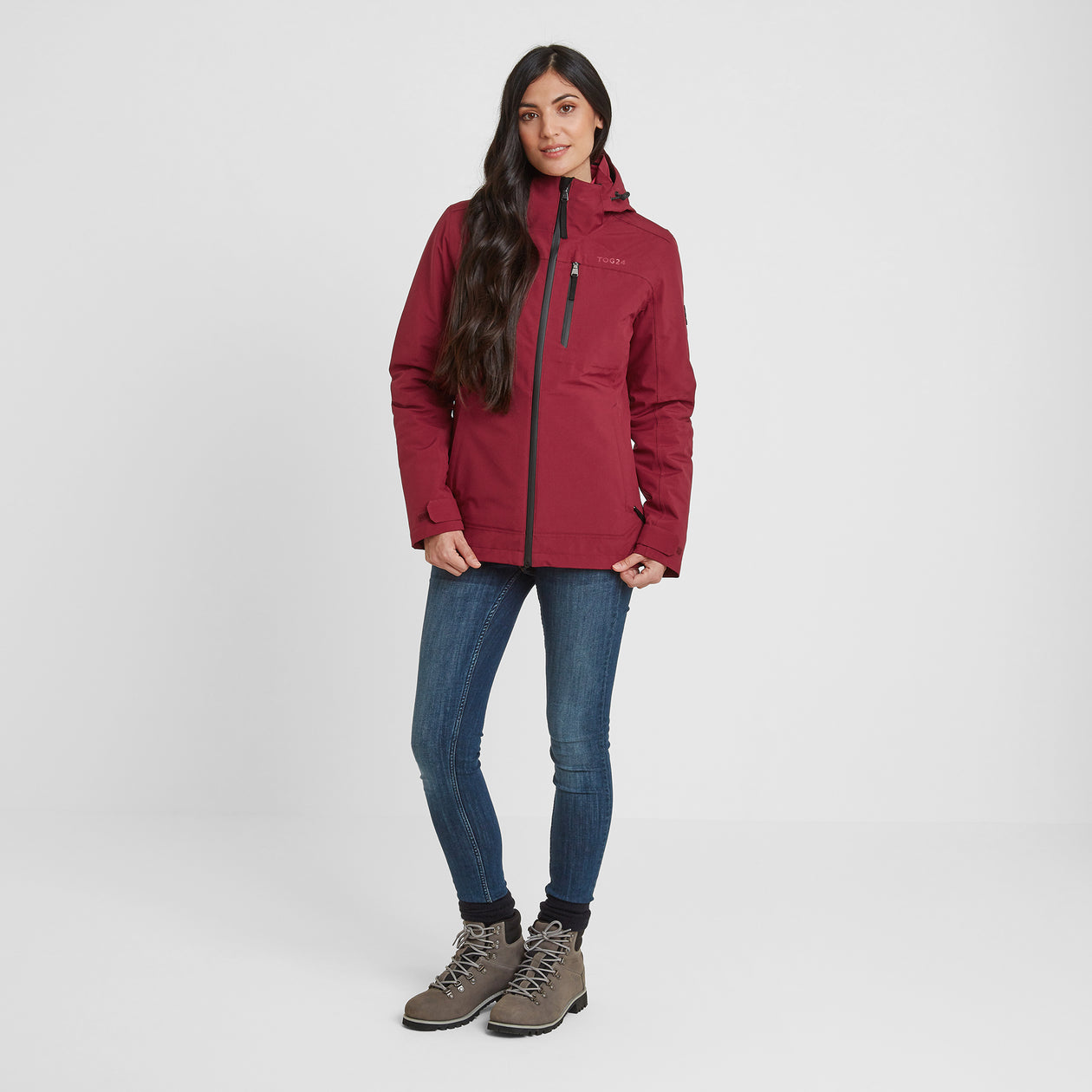 Beverley Womens Waterproof 3-in-1 Jacket - Raspberry image 4
