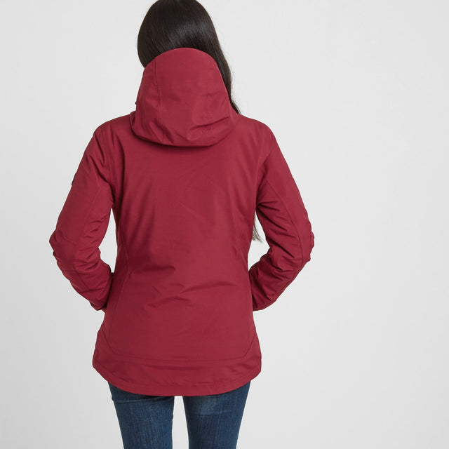 Beverley Womens Waterproof 3-in-1 Jacket - Raspberry image 2