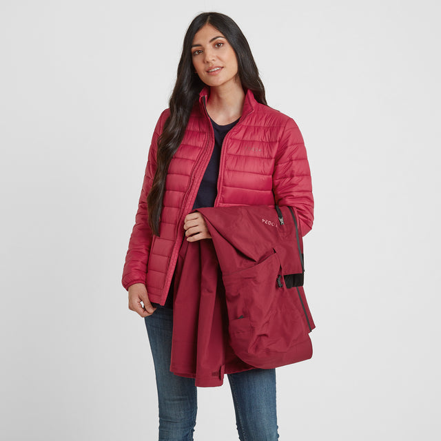 Beverley Womens Waterproof 3-in-1 Jacket - Raspberry image 5