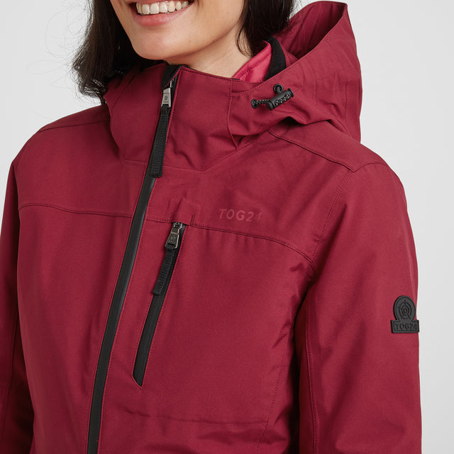 Beverley Womens Waterproof 3-in-1 Jacket - Raspberry image 6