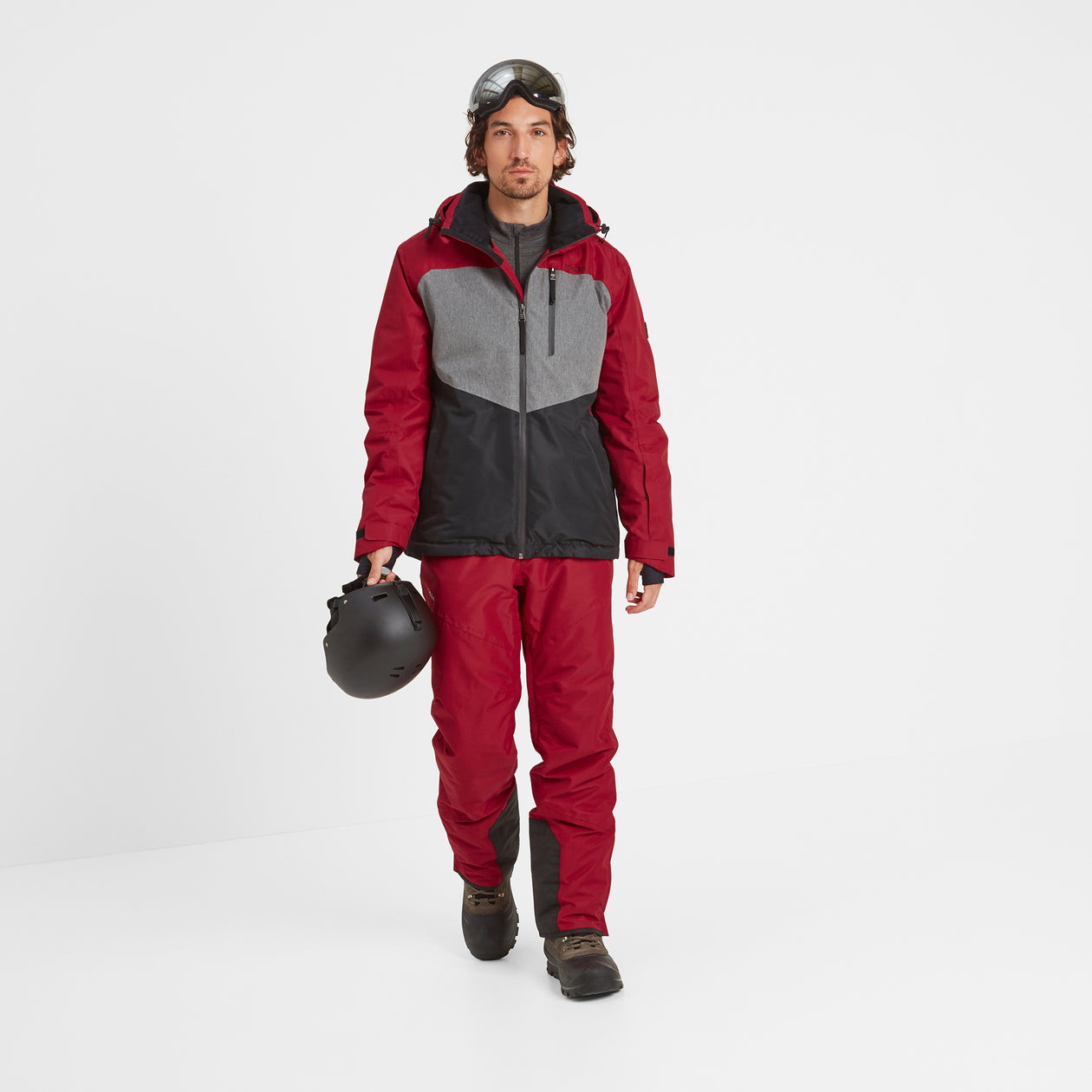 Blade Mens Waterproof Insulated Ski Jacket - Chilli/Grey/Black image 4