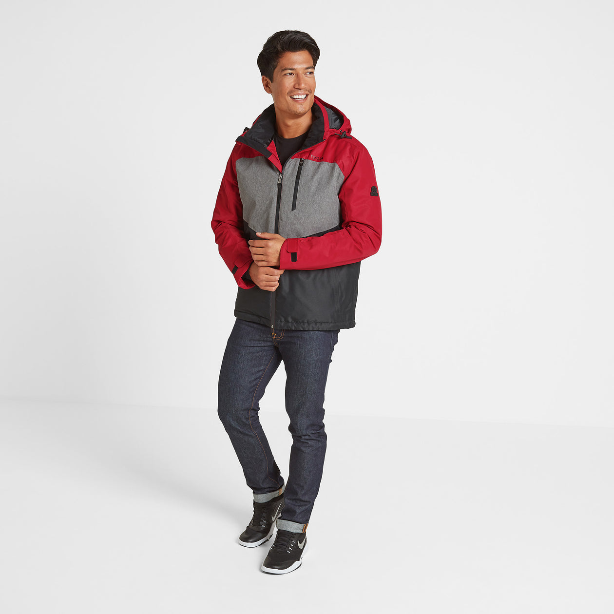Blade Mens Winter Jacket - Chilli/Grey/Black image 4