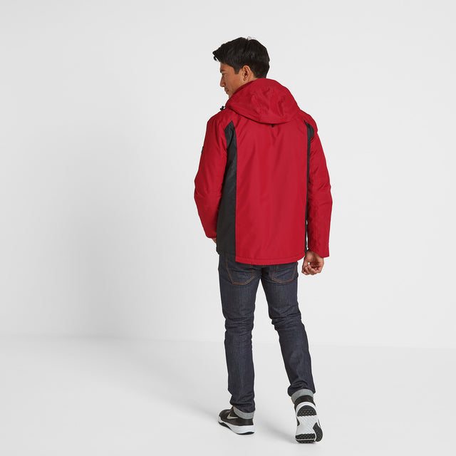 Blade Mens Winter Jacket - Chilli/Grey/Black image 2