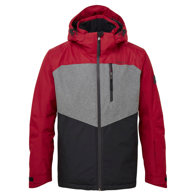 Blade Mens Waterproof Insulated Ski Jacket - Chilli/Grey/Black image 5