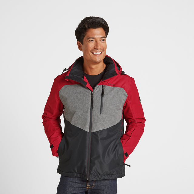 Blade Mens Winter Jacket - Chilli/Grey/Black image 1
