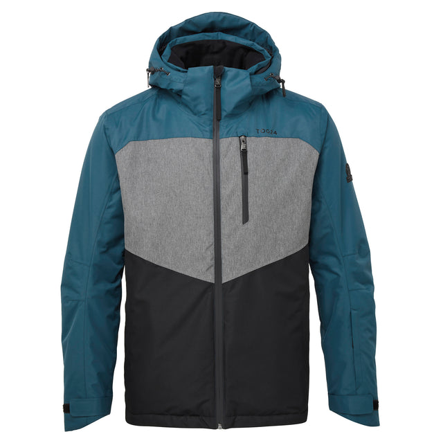 Blade Mens Waterproof Insulated Ski Jacket - Lagoon/Grey/Black image 5