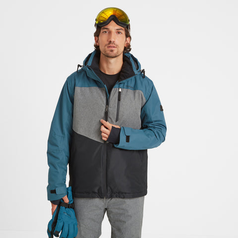 Blade Mens Waterproof Insulated Ski Jacket - Lagoon/Grey/Black