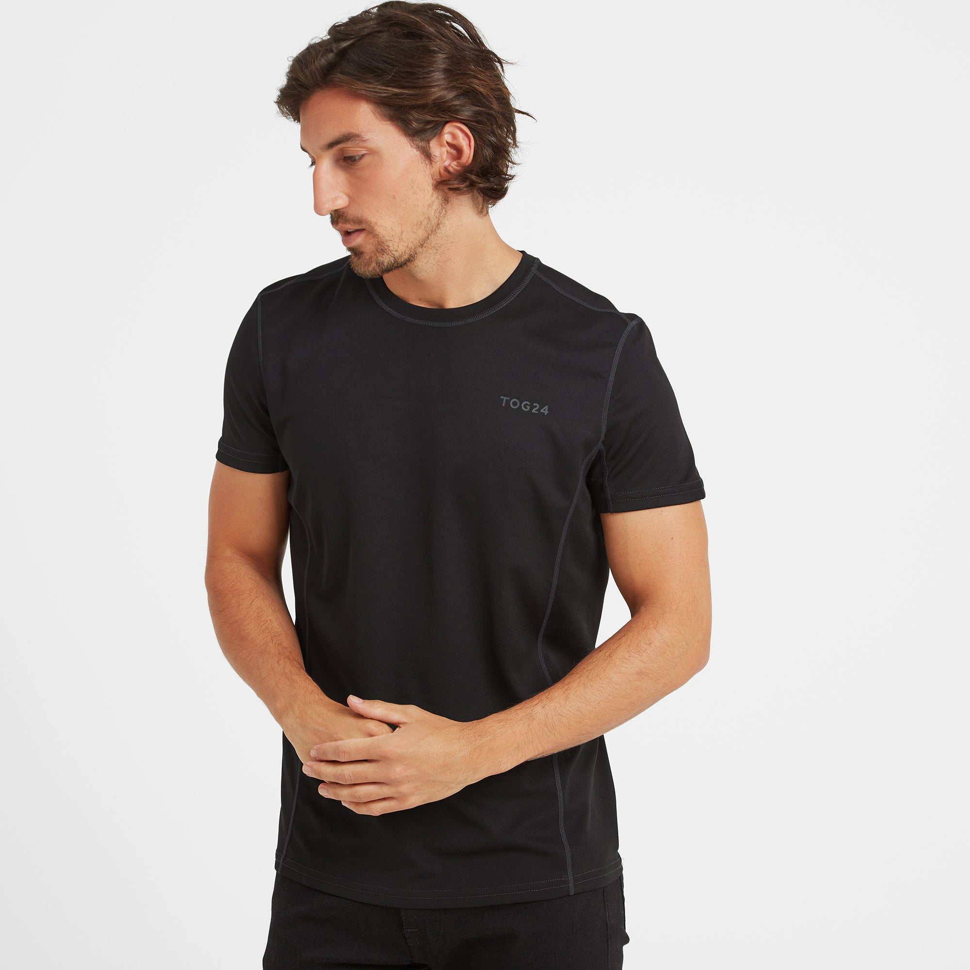 Blevin Mens Performance T-Shirt - Black