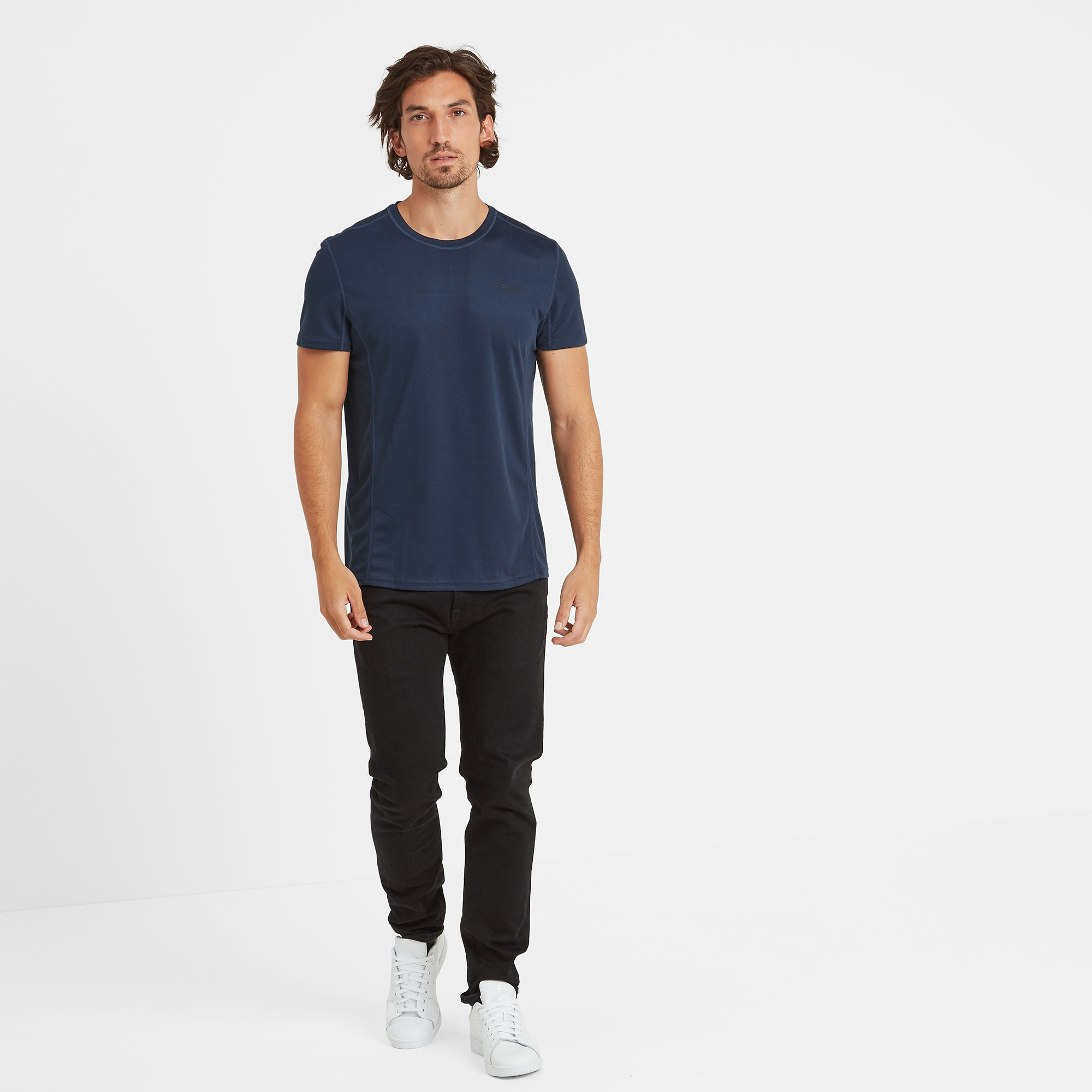 Blevin Mens Performance T-Shirt - Naval Blue
