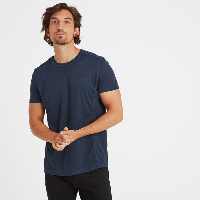 Blevin Mens Performance T-Shirt - Naval Blue image 1