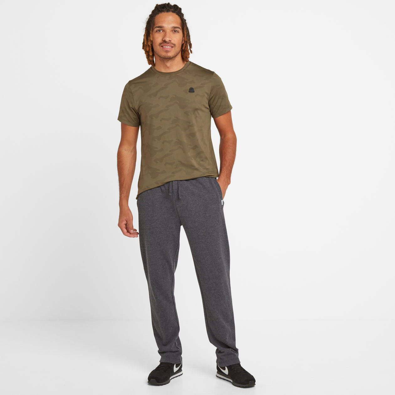 Bradley Mens Sweat Pants - Dark Grey Marl image 4