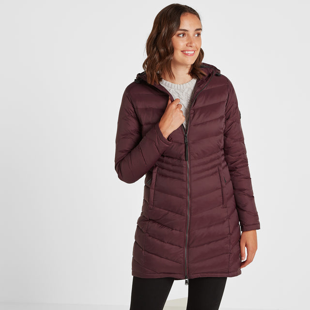 Bramley Womens Down Jacket - Deep Port image 1