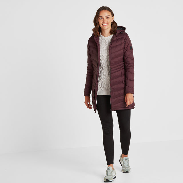 Bramley Womens Down Jacket - Deep Port image 2