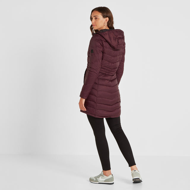 Bramley Womens Down Jacket - Deep Port image 3