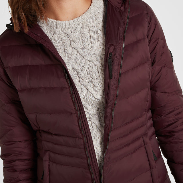 Bramley Womens Down Jacket - Deep Port image 5