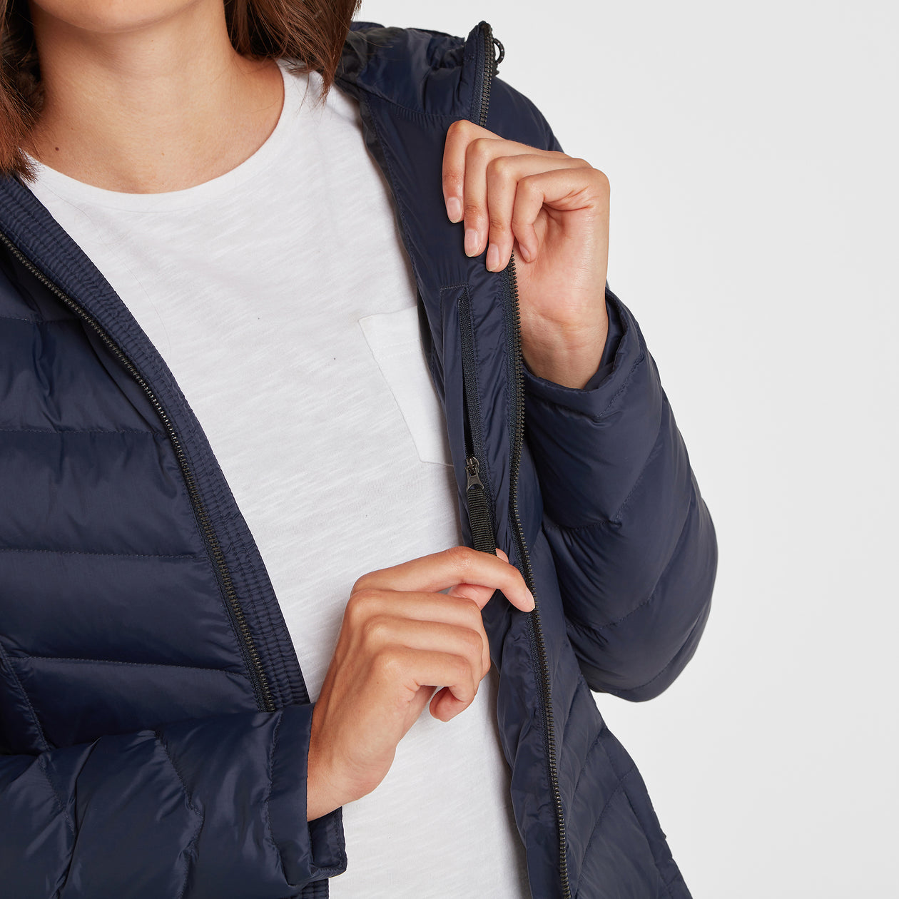 Bramley Womens Down Jacket - Navy image 4