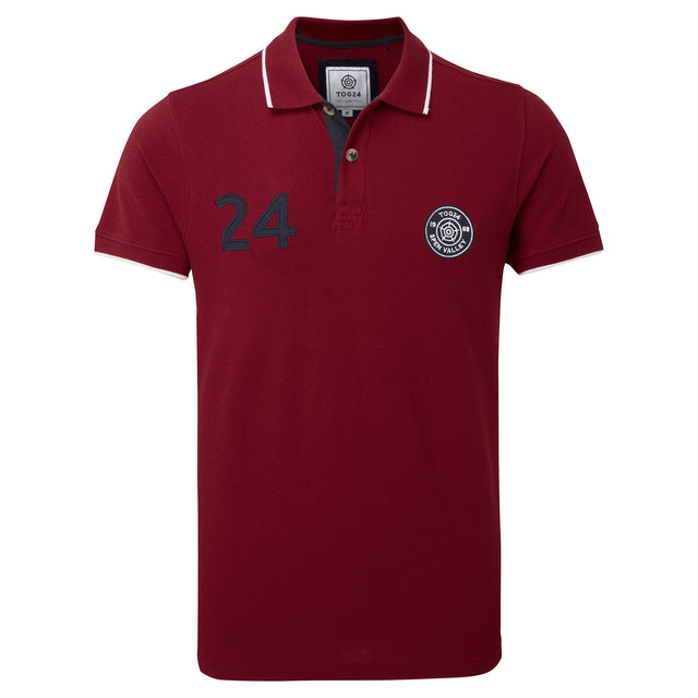 Branton Mens Logo Polo Shirt - Rio Red image 3