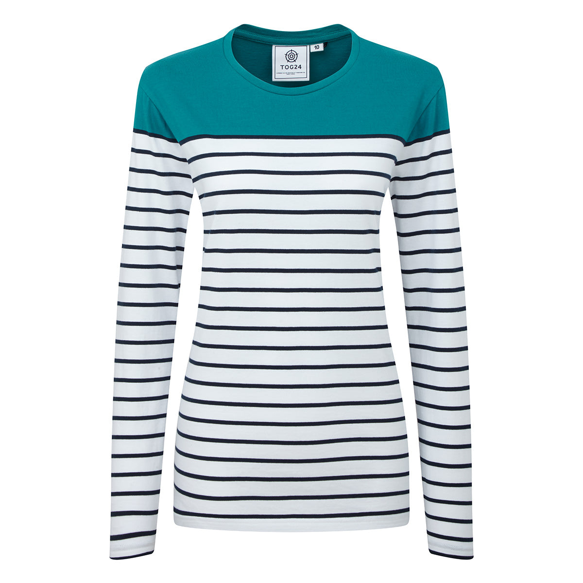 Braythorn Womens Long Sleeve Stripe T-Shirt - Topaz image 4