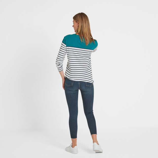 Braythorn Womens Long Sleeve Stripe T-Shirt - Topaz image 3