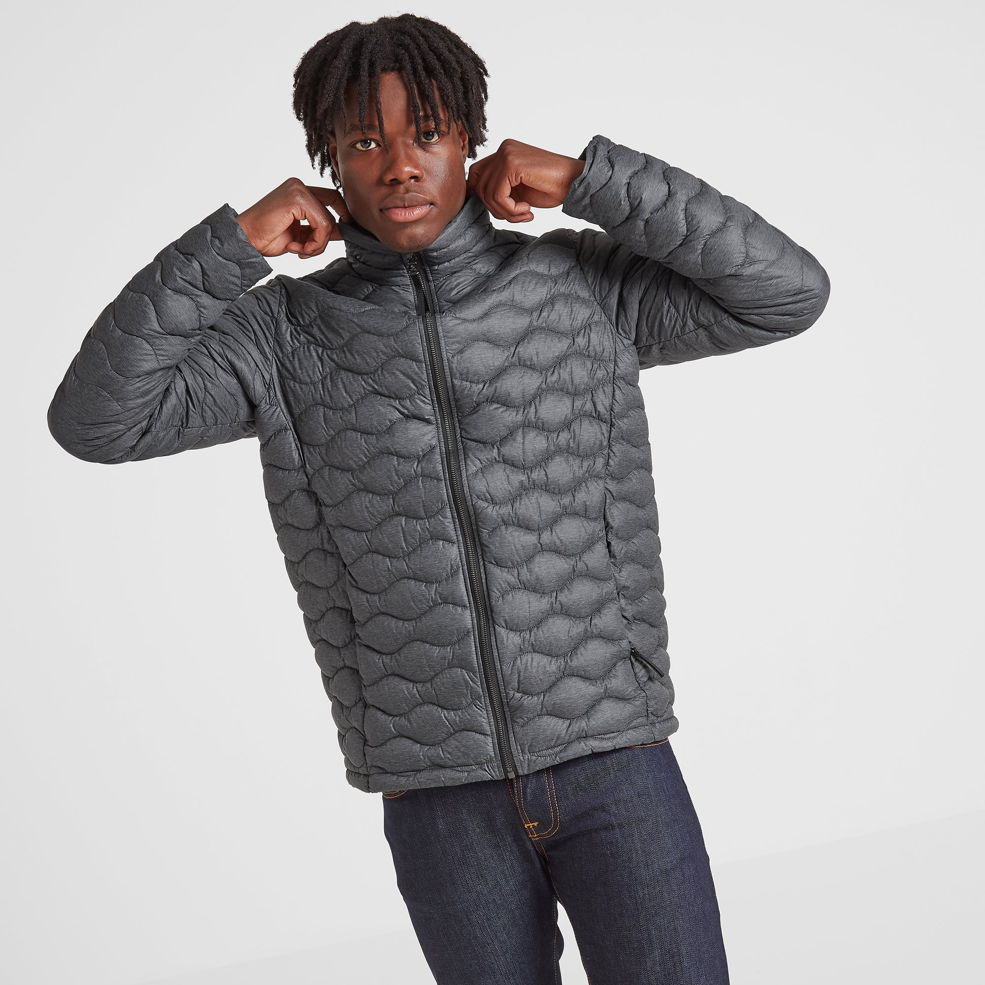 Brimham Mens Thermal Jacket - Dark Grey Marl