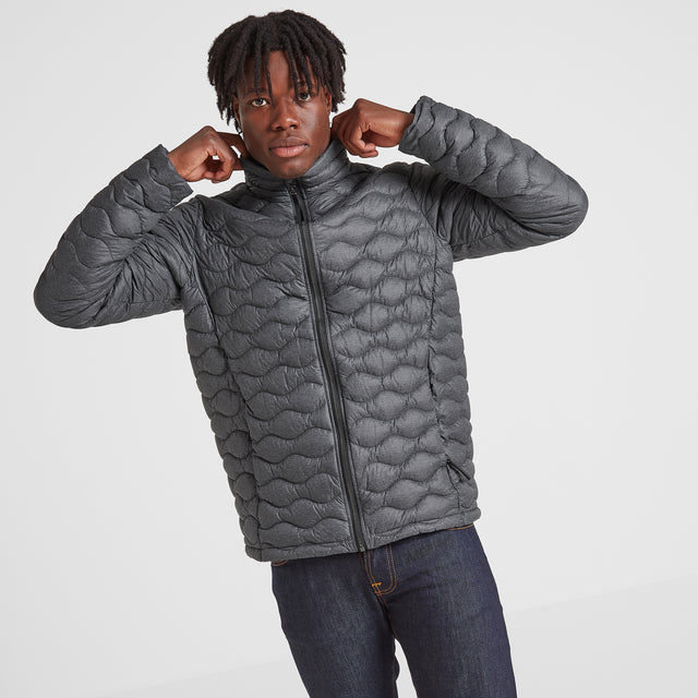 Brimham Mens Thermal Jacket - Dark Grey Marl image 2