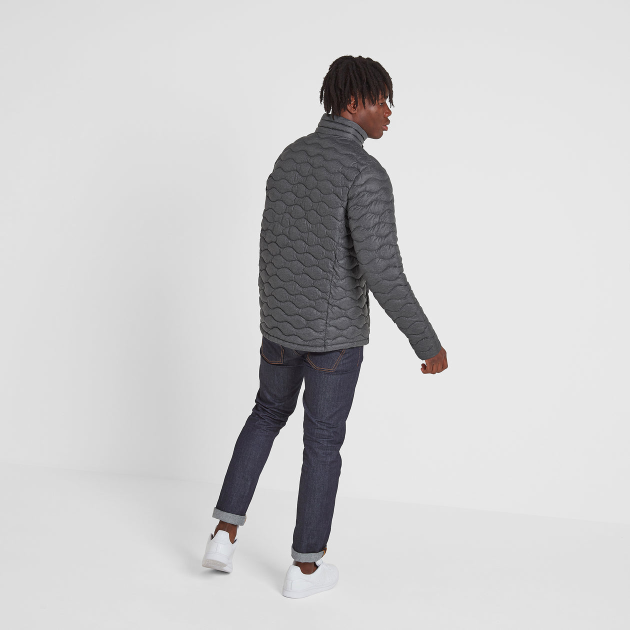 Brimham Mens Thermal Jacket - Dark Grey Marl image 4