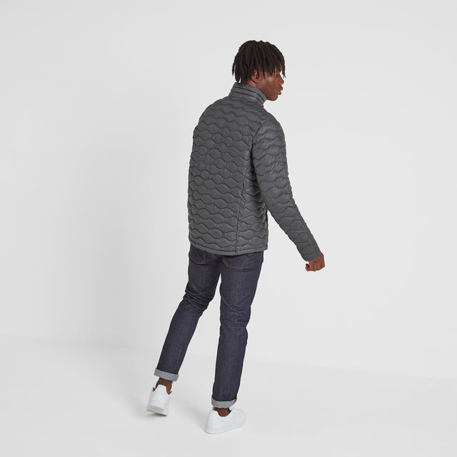 Brimham Mens Thermal Jacket - Dark Grey Marl image 3