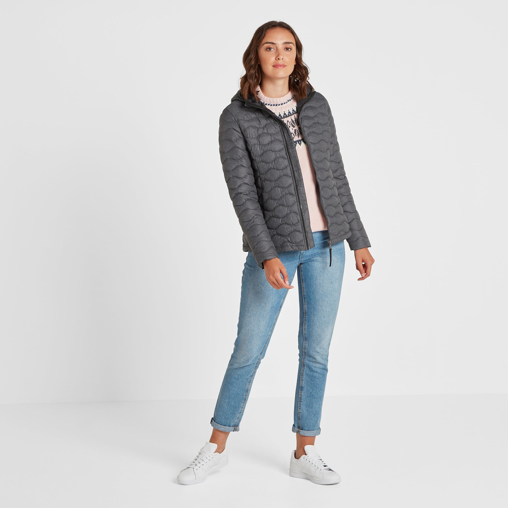 Brimham Womens Thermal Jacket - Dark Grey Marl
