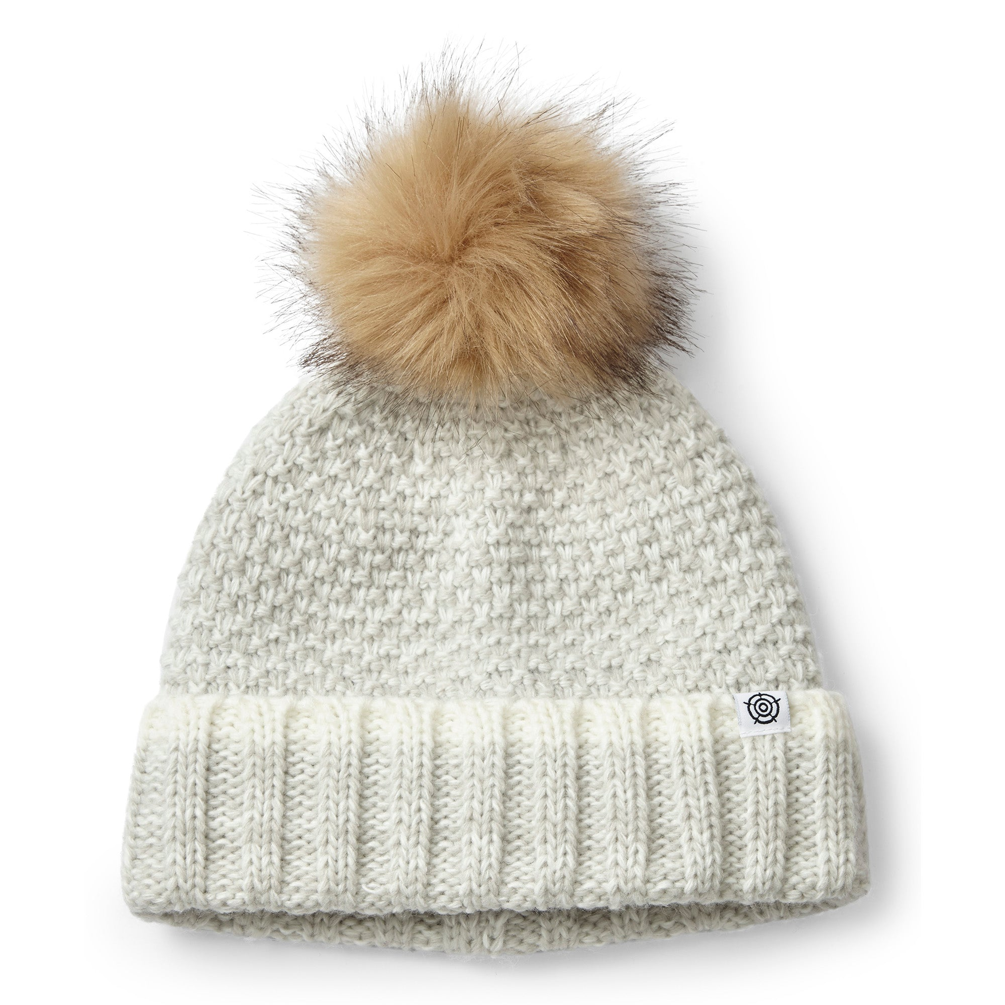 Bristol Knit Beanie Hat - Ice Grey Marl