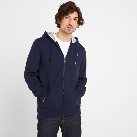 Brundon Mens Zip Hoody - Navy