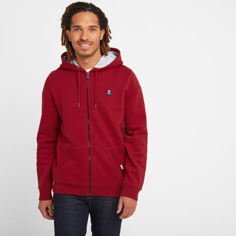 Brundon Mens Zip Hoody - Rio Red