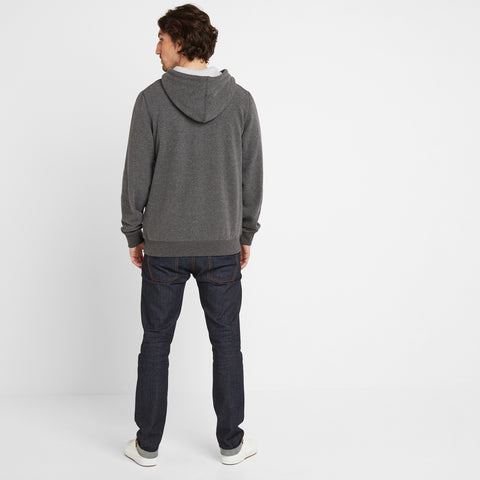Brundon Mens Zip Hoody - Dark Grey Marl