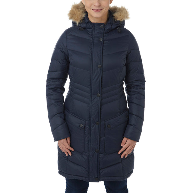 Buffy Womens Down Jacket - Navy image 2