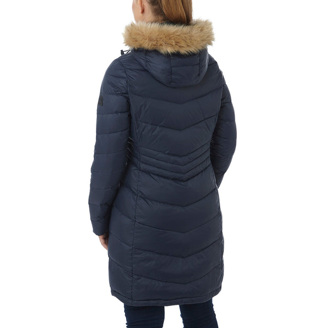 Buffy Womens Down Jacket - Navy image 3